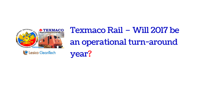 Texmaco Rail – Will 2017 be an operational turn-around year?